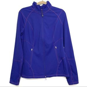 Zella Purple/Blue Zip Up Athletic Jacket Size L